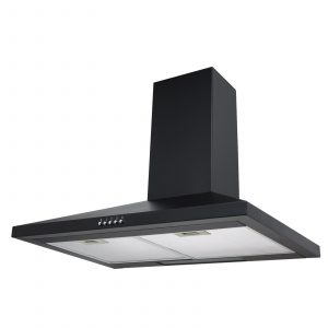 SIA CH71BL 70cm Black Chimney Cooker Hood Kitchen Extractor Fan