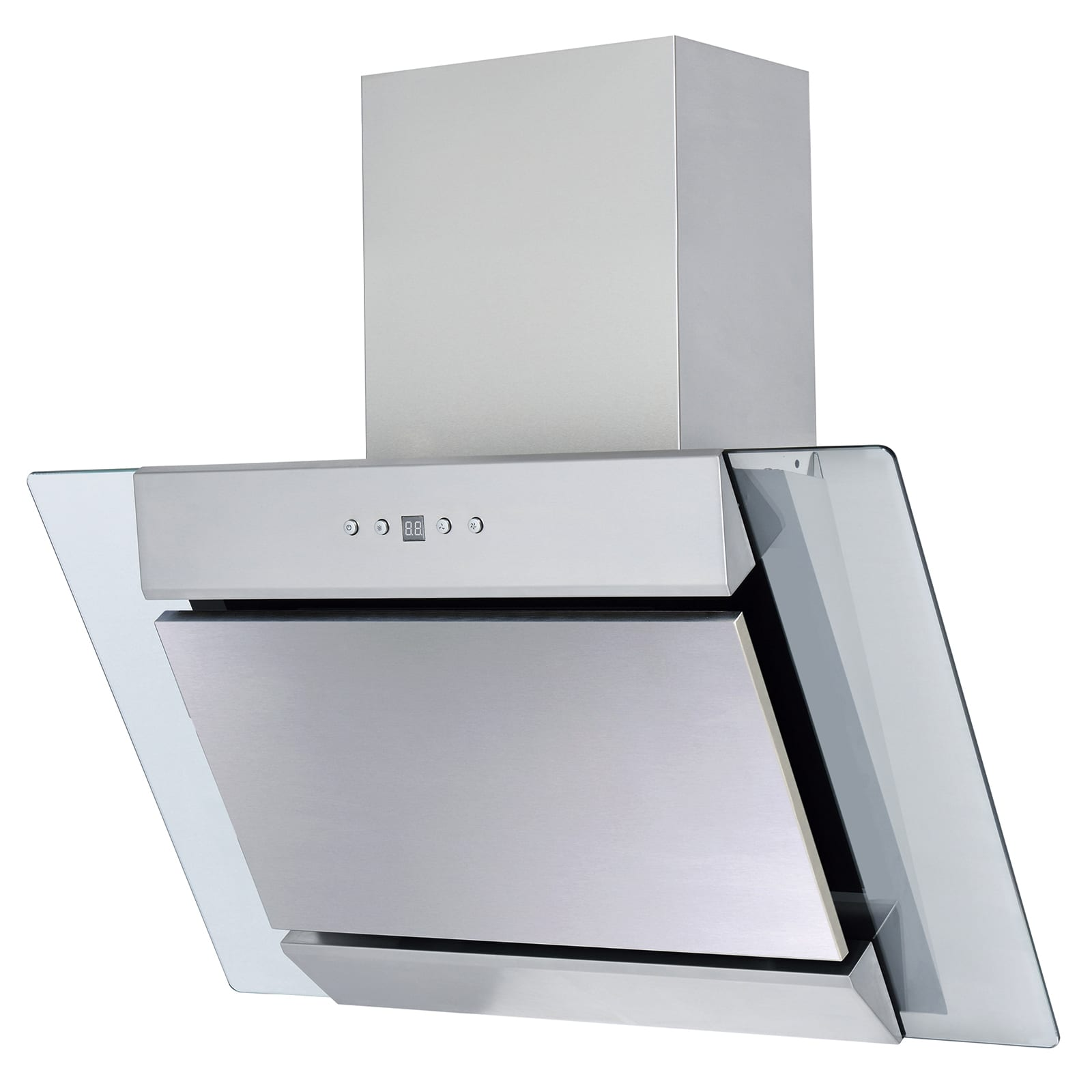 SIA AGL61SS 60cm Angled Stainless Steel Chimney Cooker