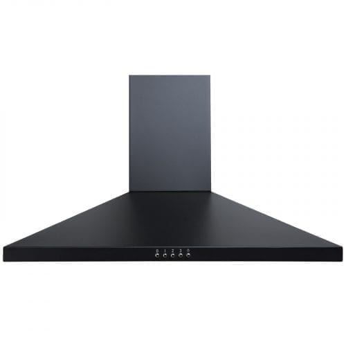 SIA CH71BL 70cm Black Chimney Cooker Hood Extractor Fan And 1m Ducting