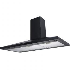 SIA CH101BL 100cm Black Chimney Cooker Hood Kitchen Extractor Fan