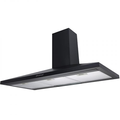 SIA CH101BL 100cm Black Chimney Cooker Hood Kitchen Extractor Fan