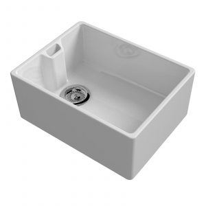 Reginox Belfast 600mm 1.0 Bowl Ceramic Kitchen Sink & Reginox Genesis Mixer Tap