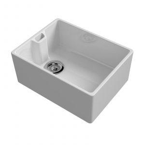 Reginox Belfast 600mm 1.0 Bowl Ceramic Kitchen Sink & CDA TC10 Single Lever Tap