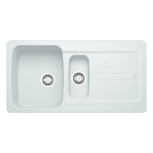 Franke Aveta 1.5 Bowl Ice White Tectonite Kitchen Sink & Reginox Genesis Tap
