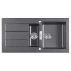 Franke SID651 Sirius 1.5 Bowl Black Kitchen Sink & Reginox Genesis Swan Neck Tap