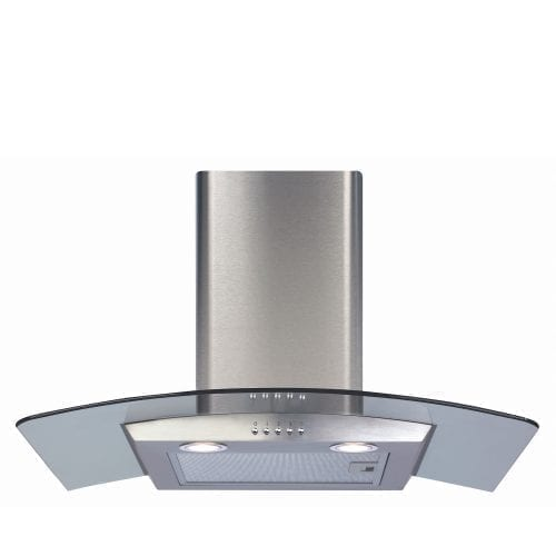 CDA ECP72SS 70cm Curved Glass Cooker Hood Extractor In Stainless Steel