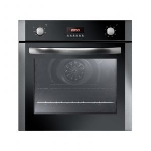 Iberna IBOF605X 60cm Built In Electric Single Stainless Steel 65L Fan Oven
