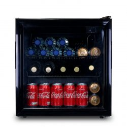 SIA DC2BL 52L Counter Table Top Mini Drinks Beer And Wine Fridge With Glass Door