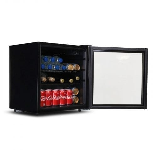 SIA DC2BL 52L Glass Door Black Table Top Beer & Drinks Fridge | Wine Cooler