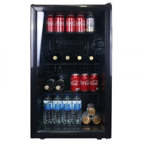 SIA DC1BL 50cm Glass Door Under Counter Drinks, Wine & Beverage Cooler Fridge