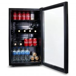 SIA DC1BL Under Counter 126L Drinks, Beer And Wine Cooler Fridge With Glass Door
