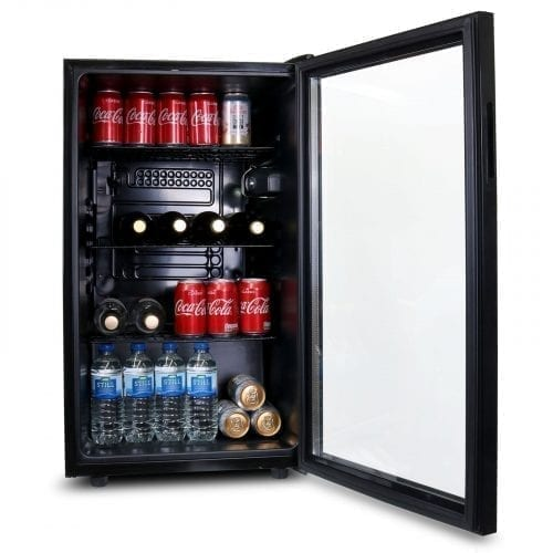 SIA DC1BL 126L Glass Door Black Under Counter Beer & Drinks Fridge | Wine Cooler