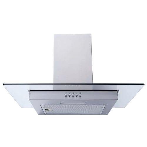 SIA FL61SS 60cm Flat Glass Stainless Steel Chimney Cooker Hood Extractor Fan