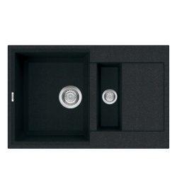 Reginox Easy 325 Black Granite Composite Inset 1.5 Bowl Reversible Kitchen Sink