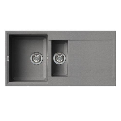 Reginox Easy 475 Grey Granite Composite Inset 1.5 Bowl Reversible Kitchen Sink
