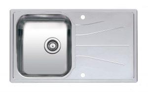 Reginox Stainless Steel 1.0 Bowl Kitchen Sink & Waste and Reversible Drainer
