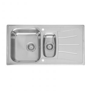 Reginox 1.5 Bowl Stainless Steel Kitchen Sink and Waste with Reversible Drainer