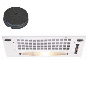 CDA CCA5WH 50cm Under Canopy Cooker Hood Extractor Fan In White + Filter