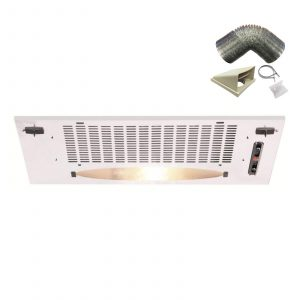 CDA CCA5WH 50cm Under Canopy Cooker Hood Extractor Fan In White + 1m Ducting