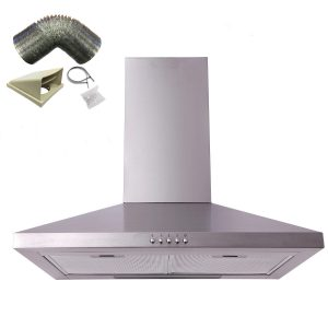 SIA CHL61SS 60cm Stainless Steel Chimney Cooker Hood Extractor Fan & 1m Ducting