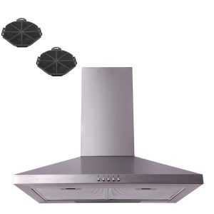 SIA CHL61SS 60cm Stainless Steel Chimney Cooker Hood Extractor Fan And Filters