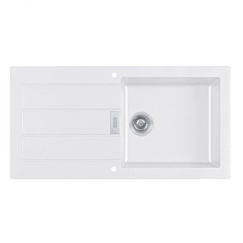 Franke Sirius 1.0 Bowl White Kitchen Sink & Astracast TP0800 Chrome Mixer Tap