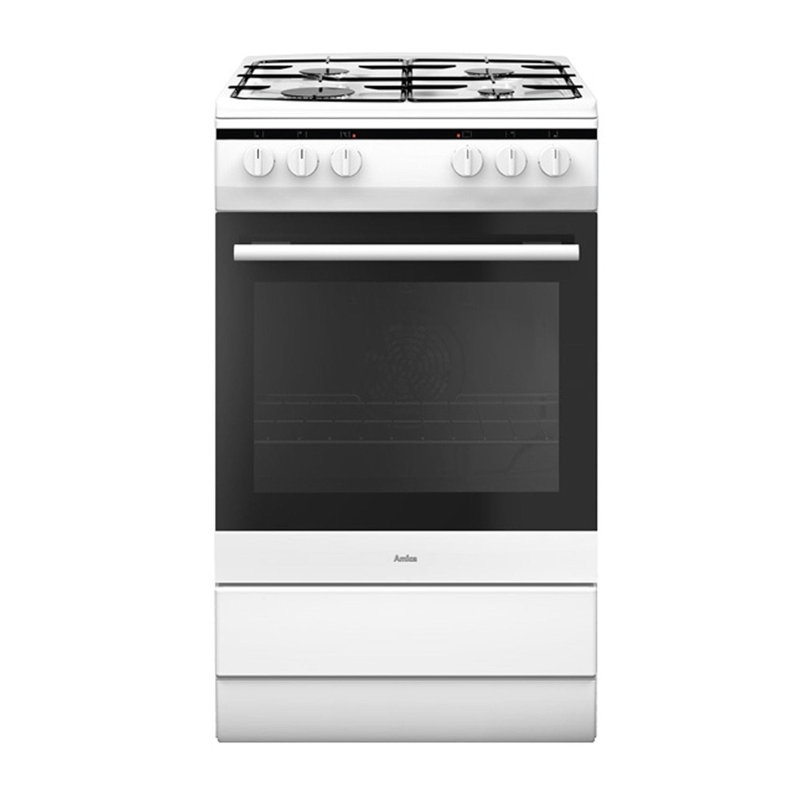 Amica 508gg5w Freestanding 50cm Single Cavity White Gas Cooker Oven