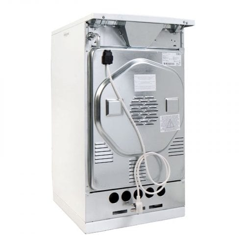 Amica 508GG5W Freestanding 50cm Single Cavity White Gas Cooker, Oven & Grill