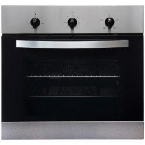 SIA 60cm True Fan Single Electric Oven, 4 Zone Plate Hob & Angled Cooker Hood