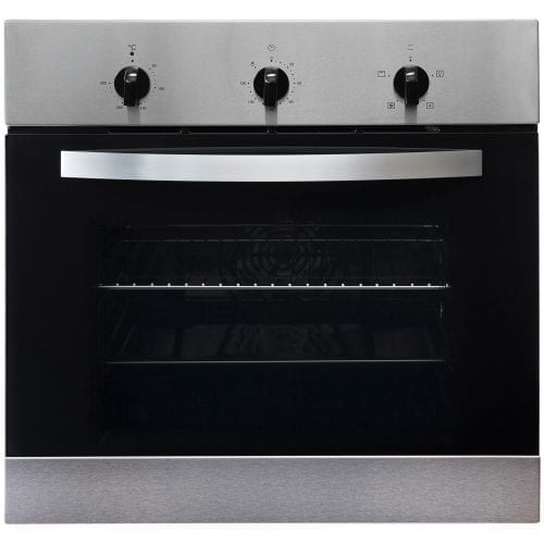 SIA 60cm True Fan Single Oven, Electric 4 Zone Plate Hob & Chimney Cooker Hood
