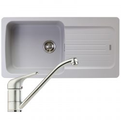 Franke Aveta 1.0 Bowl Stone Grey Tectonite Kitchen Sink And Clearwater Creta Tap