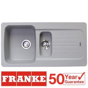 Franke Aveta 1.5 Bowl Stone Grey Tectonite Kitchen Sink And Reginox Brooklyn Tap