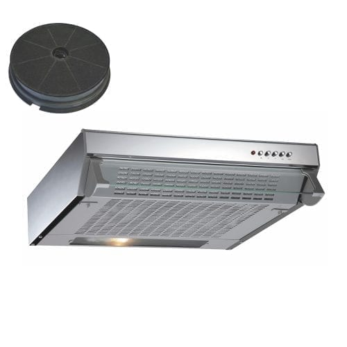 CDA CST61SS 60cm Visor Cooker Hood Extractor Fan Stainless Steel Charcoal Filter