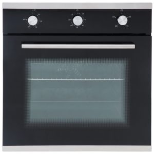 SIA Single 60cm Electric Oven, Black 70cm Gas Hob & Curved Glass Cooker Hood