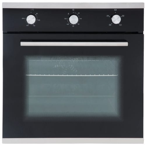 SIA 60cm Single Electric Oven, Black Ceramic Hob & Chimney Cooker Hood Extractor