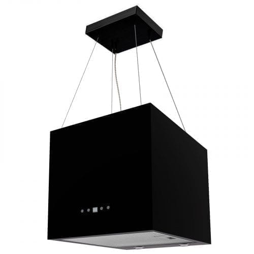 SIA IEX40BL 40cm Black Designer Lantern Island Cooker Hood Extractor Fan