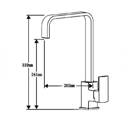 Astracast Sierra 1.0 Bowl Black Kitchen Sink & Reginox Astoria Chrome Mixer Tap