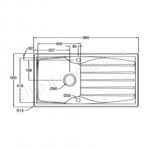 Astracast Sierra 1.0 Bowl Black Kitchen Sink & Reginox Astoria U-shape Mixer Tap