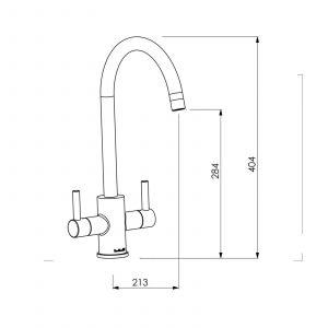 Astracast Sierra 1 Bowl White Kitchen Sink & Reginox Genesis Swan Neck Steel Tap