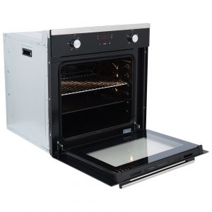 SIA SO103 60cm Black Built In Touch Control Single Electric True Fan Oven