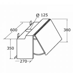 SIA INT60SI 60cm Integrated Cooker Hood Kitchen Extractor Fan + 1m Ducting Kit