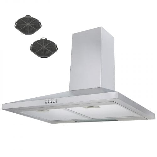 SIA 70cm Stainless Steel Chimney Cooker Hood Extractor + Recirculation Filters