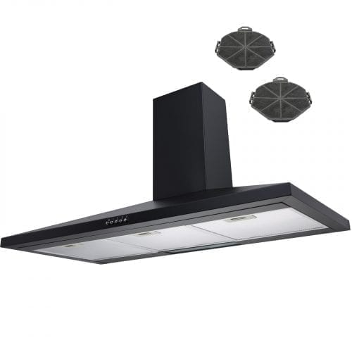 SIA CH101BL 100cm Chimney Cooker Hood Extractor Fan + Charcoal Filters