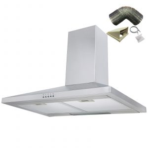 SIA CH71SS 70cm Stainless Steel Chimney Cooker Hood Extractor Fan And 1m Ducting