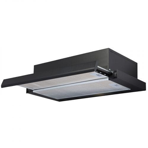 SIA TSC60BL 60cm Black Telescopic Integrated Cooker Hood Kitchen Extractor Fan