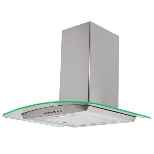 SIA CPLE61SS 60cm 3 Colour LED Stainless Steel Cooker Hood Extractor Fan
