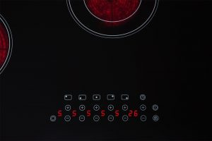 SIA CHC901BL 90cm 5 Zone Frameless Touch Control Electric Ceramic Hob in Black