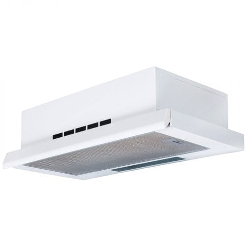 SIA TSC60WH 60cm Telescopic Integrated White Cooker Hood Extractor Fan