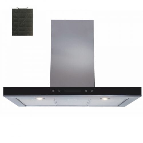 SIA 90cm Linear Touch Control Stainless Steel Cooker Hood Fan + Charcoal Filters