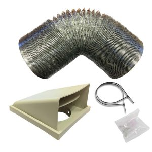 SIA D1 Universal Kitchen Cooker Hood Extractor Fan Ducting Vent Kit 125mm x 1m
